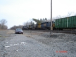 CSX 8834,CSX 649 & CSX 8764 head East w/MRRX Woodchip Hopper 4117
